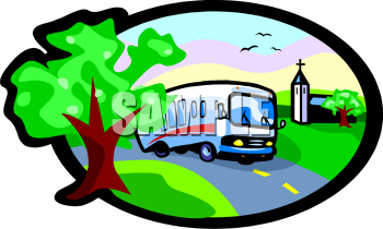 Royalty Free Bus Clip Art Transportation Clipart