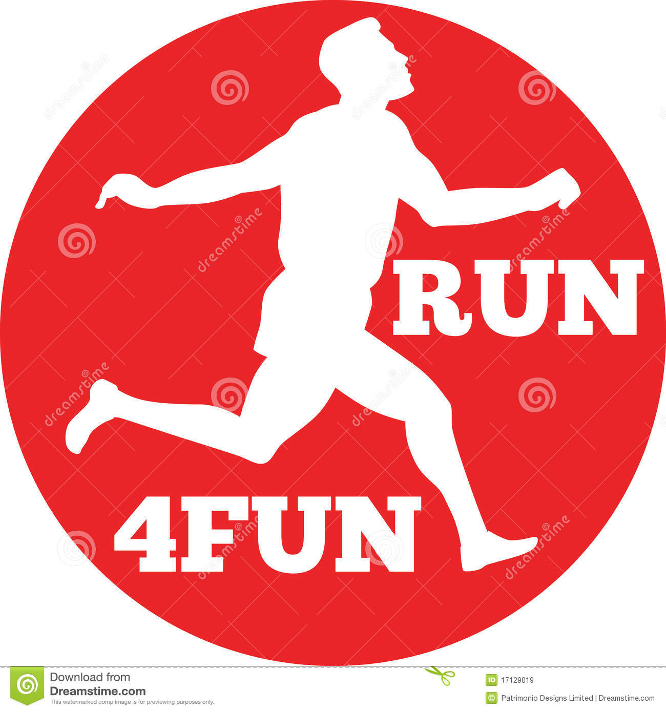 Running Race Set Inside Circle Done In Retro Style Words Run 4fun