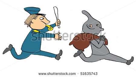 The Policeman Catches The Thief Stock Photo 51635743   Shutterstock