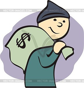 Thief Clip Art Thief   Vector Clipart