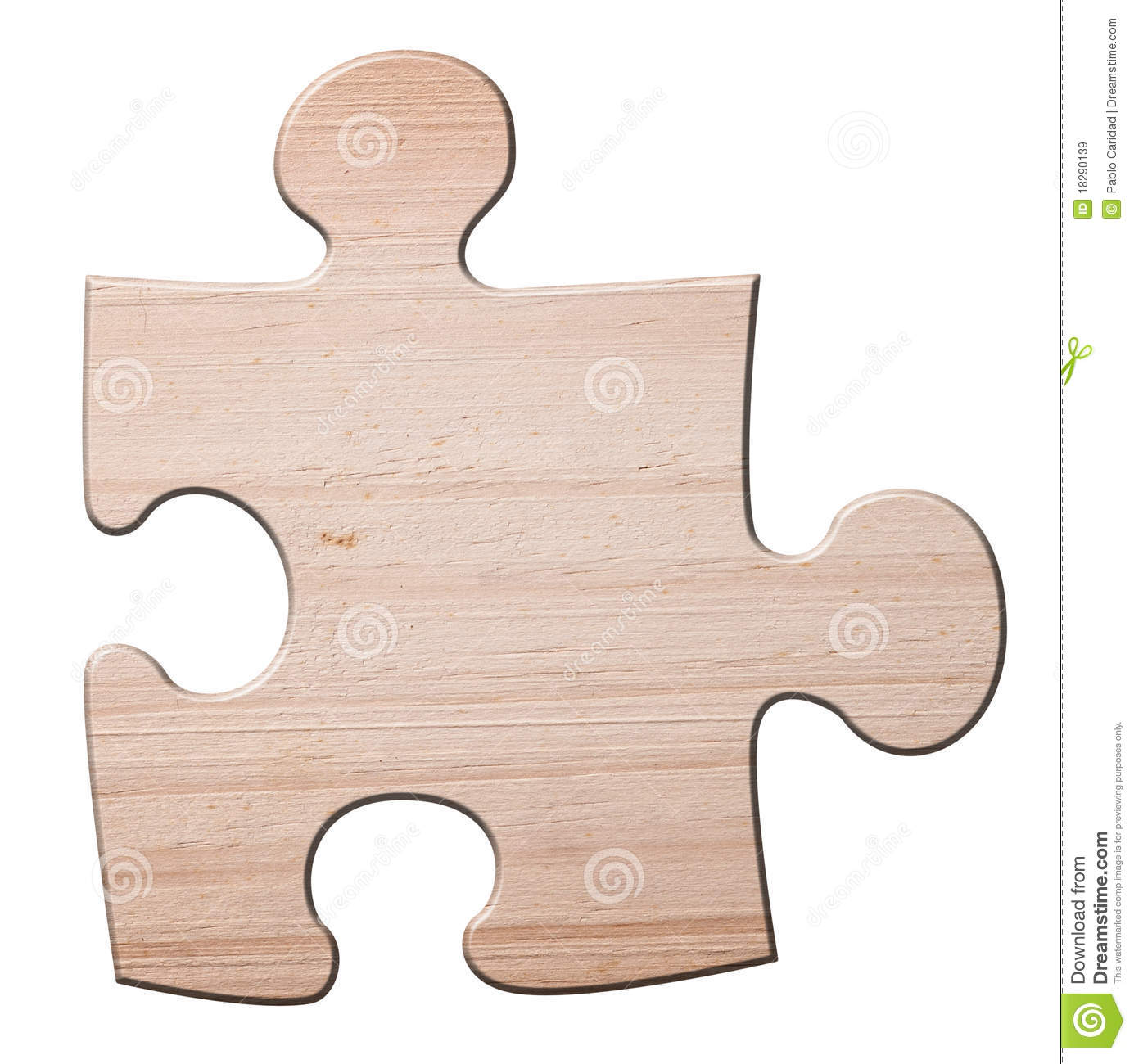 Wooden Jigzaw Puzzle Piece  Royalty Free Stock Images   Image