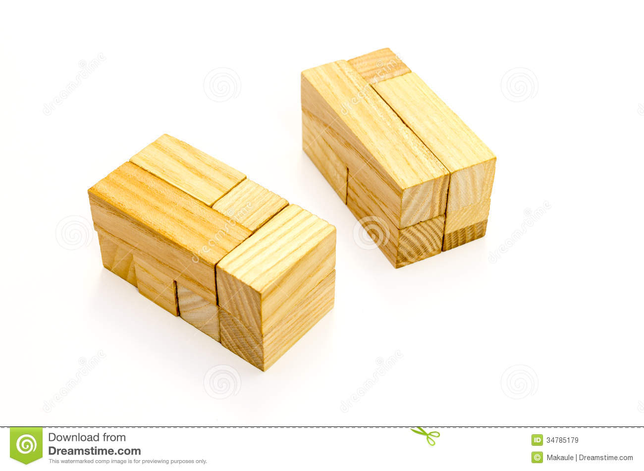 Wooden Puzzle Royalty Free Stock Images   Image  34785179