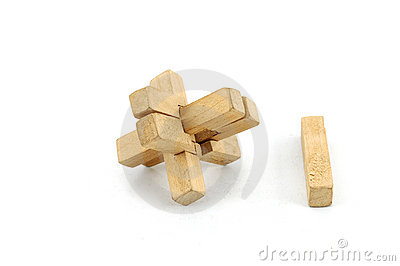 Wooden Puzzle Stock Photography   Image  8657752