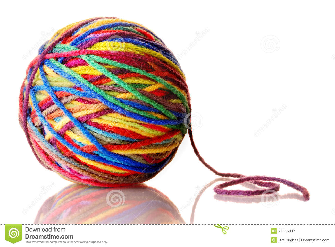 Ball Of Yarn Royalty Free Stock Photography   Image  26015037