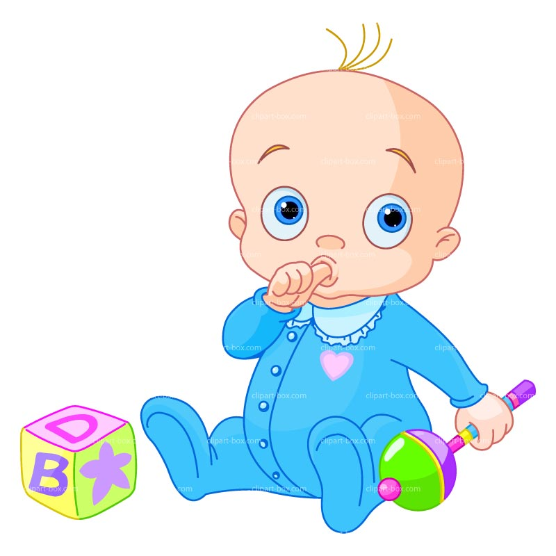 Clipart Baby Boy With Toys   Royalty Free Vector Design