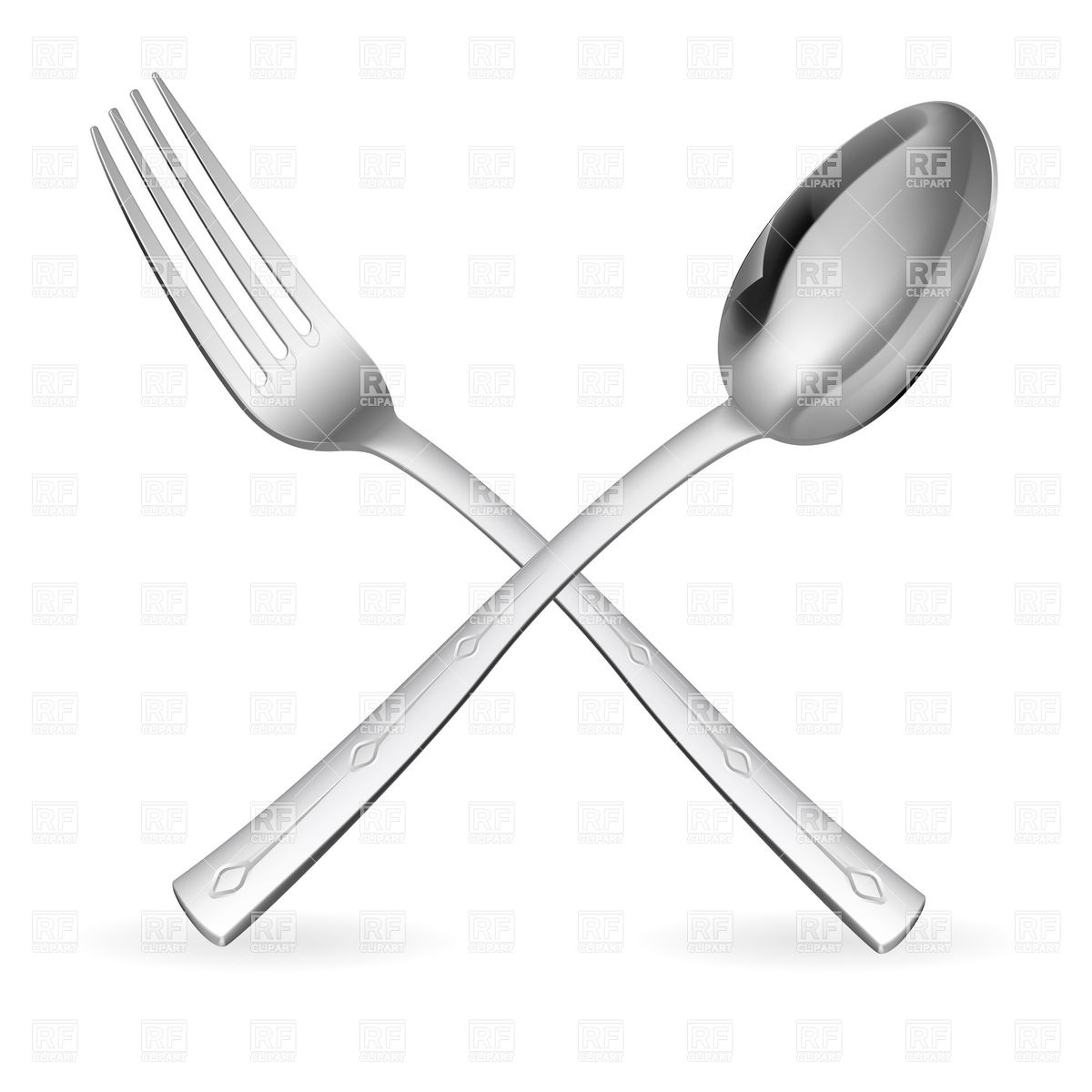 Crossed Fork And Spoon Download Royalty Free Vector Clipart  Eps