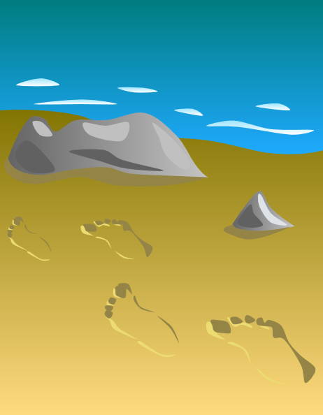 Footprints In Sand Clip Art At Clker Com   Vector Clip Art Online