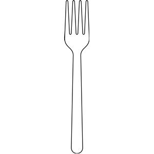 Fork Clip Art Fork Coloring Page Fork Clip Art Clipart Knife And Fork ...