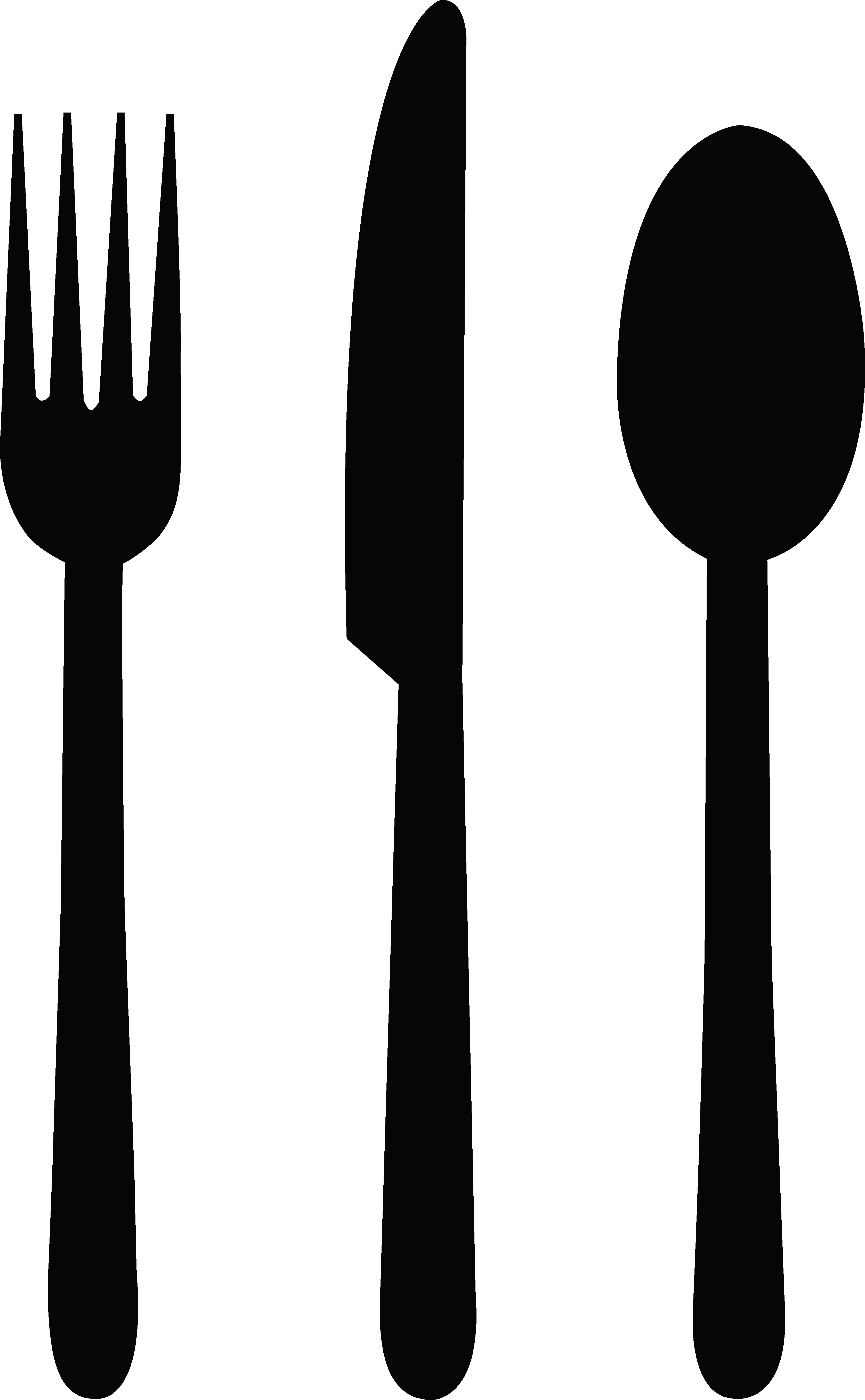 Fork Clipart Black And White Fork Clipart Fork Knife Spoon Black Png