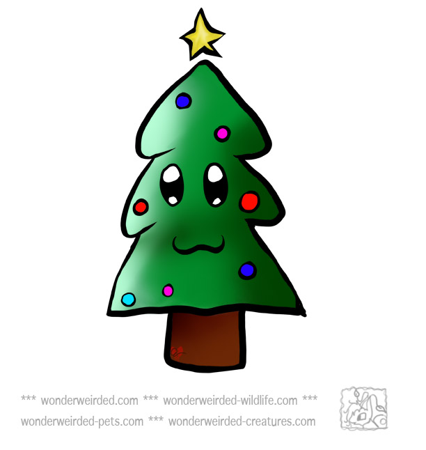 Free Christmas Tree Clipart Xmas Tree   With Baubles And Xmas Star