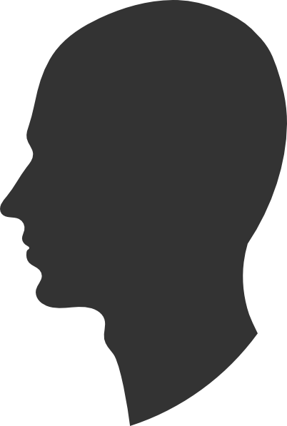 Head Profile Silhouette Male Clip Art At Clker Com   Vector Clip Art