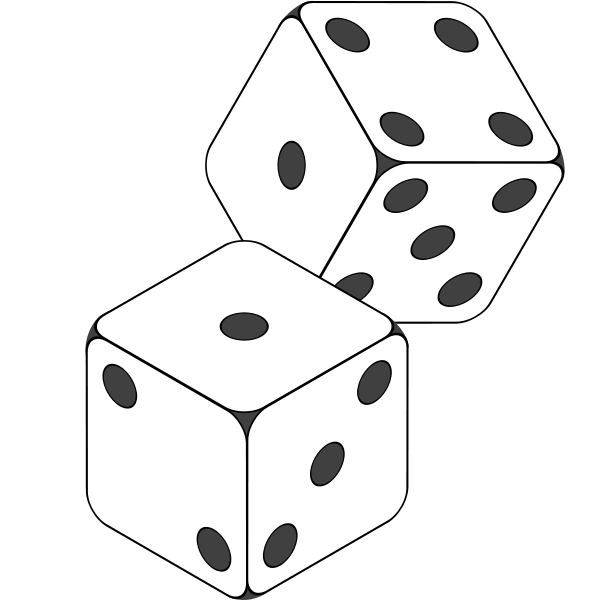 Hit The Tables    Dice Clip Art