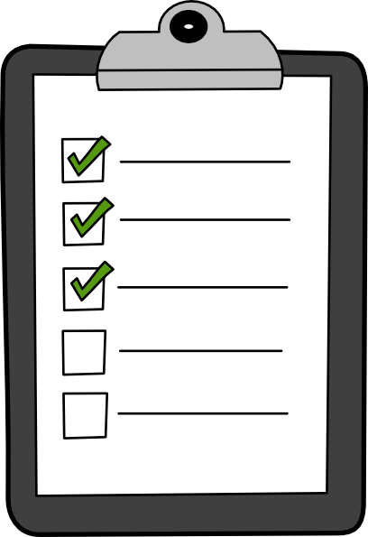 List On Clipboard With Green Checks Clip Art At Clker Com   Vector