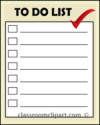 To Do List Clipart - Clipart Suggest