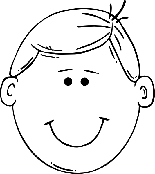 Man Face World Label Outline Clip Art At Clker Com   Vector Clip Art