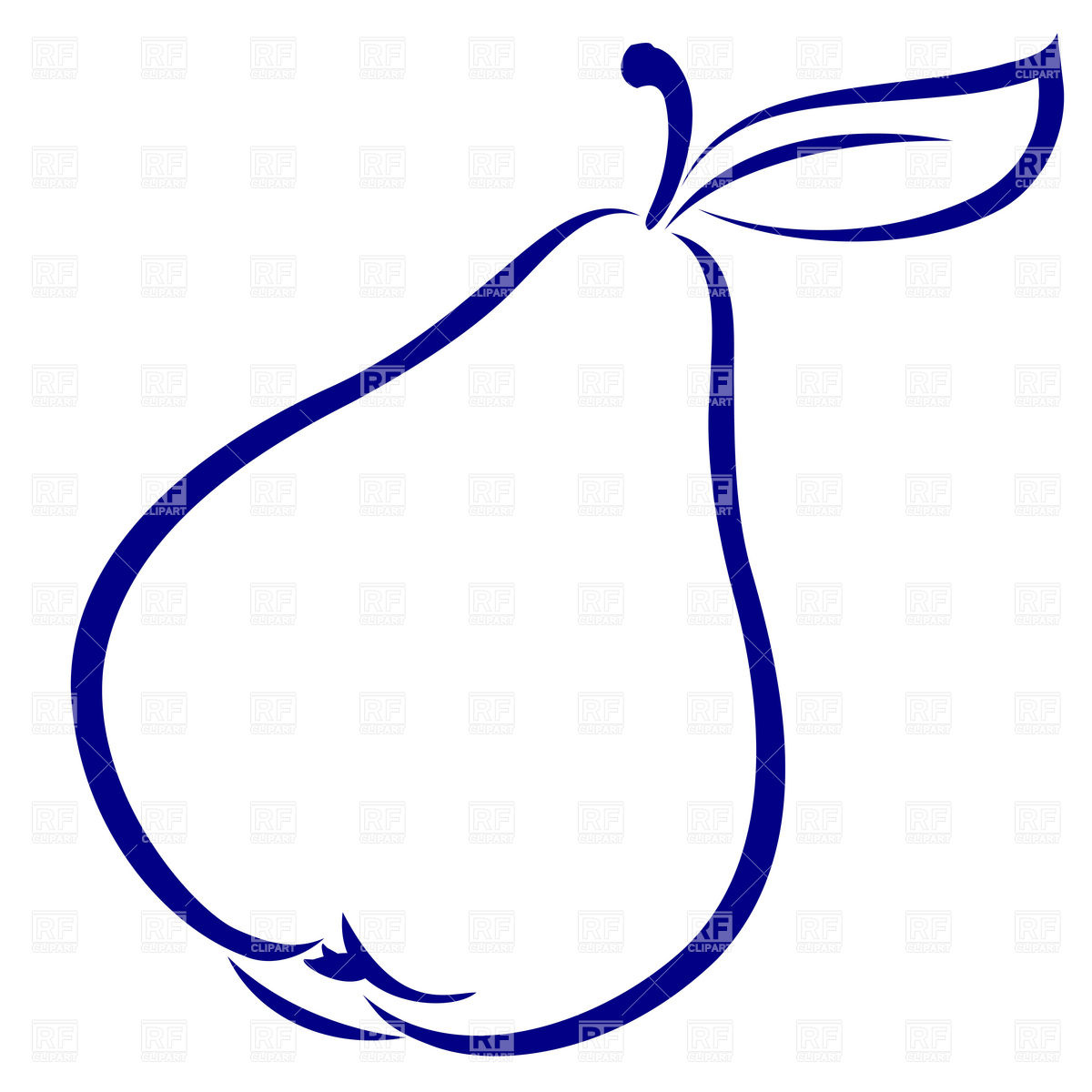 Pear Simple Outline Download Royalty Free Vector Clipart  Eps