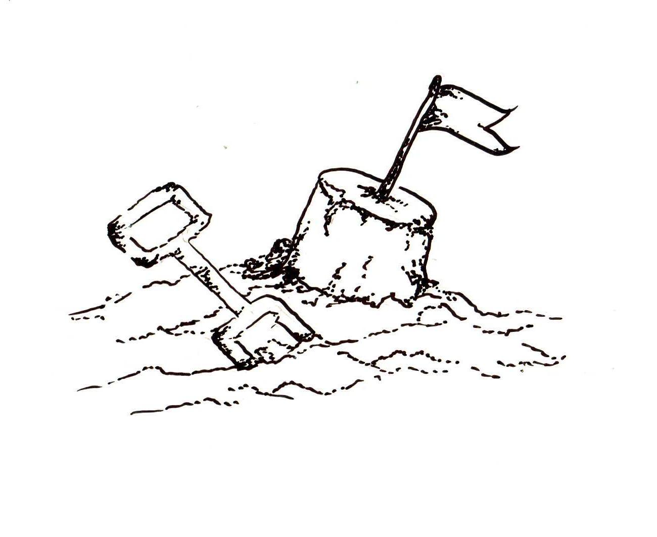 Sand Castle Clipart - Clipart Kid