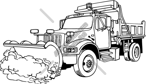 Snow plow clipart clipart suggest for Snow plow coloring pages