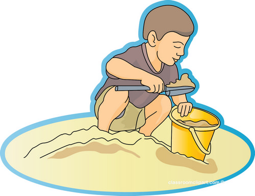 Summer   Beach Sand People 07a   Classroom Clipart