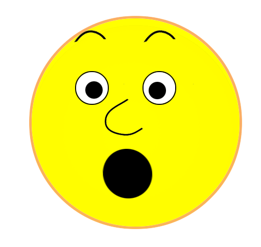 Surprised Smiley Face Clipart