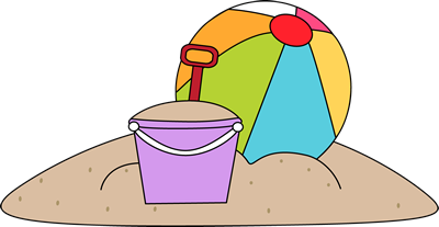 Toys Which Include A Beach Ball And Sand Pail Sitting In The Sand