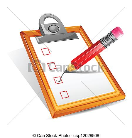 Vector   Check List   Stock Illustration Royalty Free Illustrations