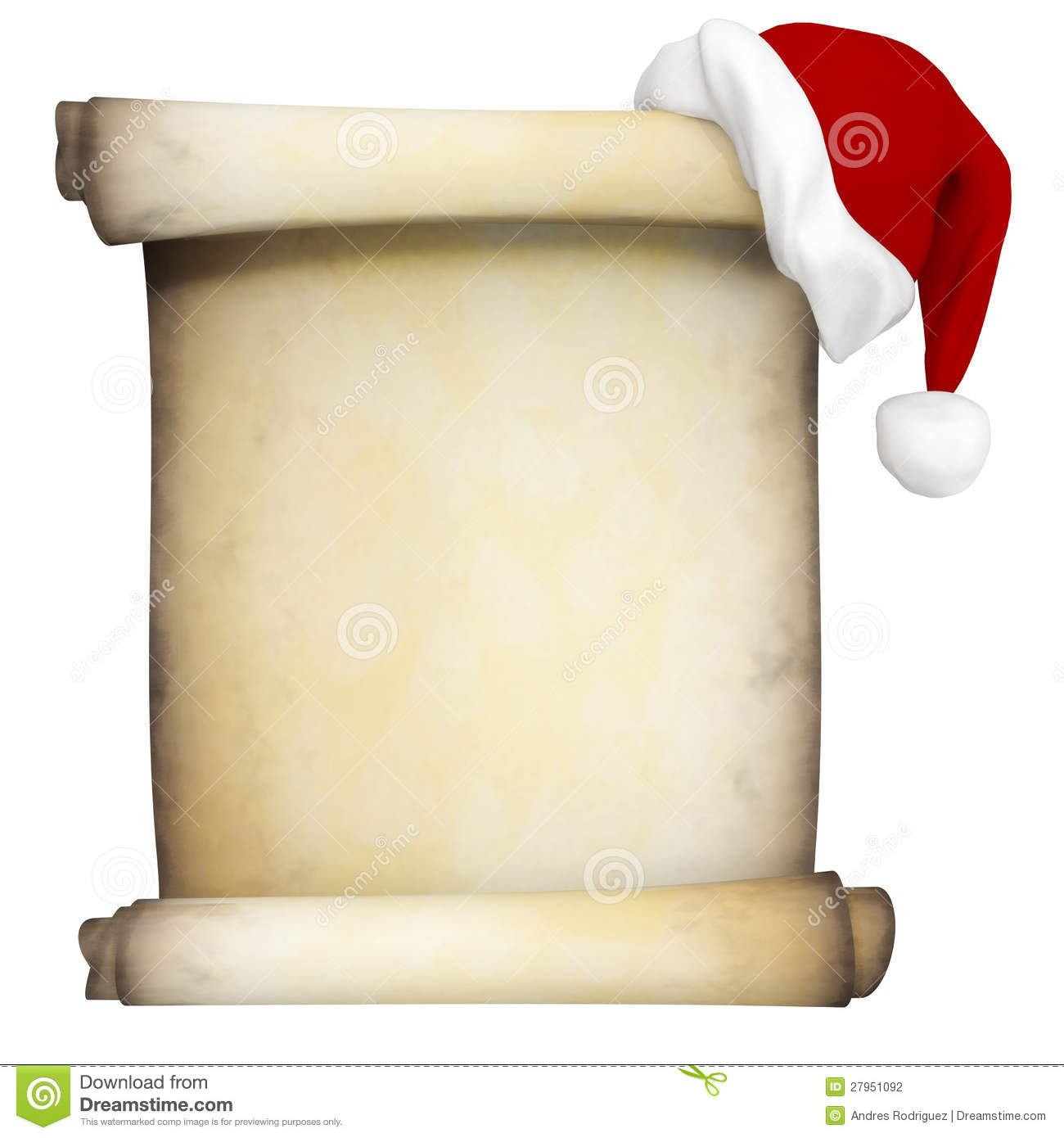 Christmas Scroll Clipart - Clipart Kid