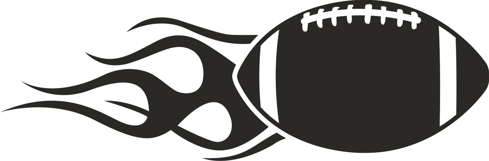 Football Clipart Black...