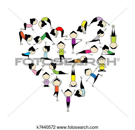 Clipart Of I Love Yoga  Heart Shape For Your Design K7440572   Search