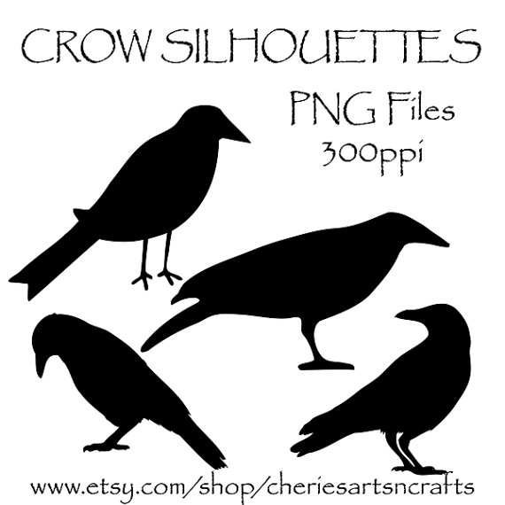 Crow Silhouettes Crow Clipart Clip Art Birds Black Crows Graphics