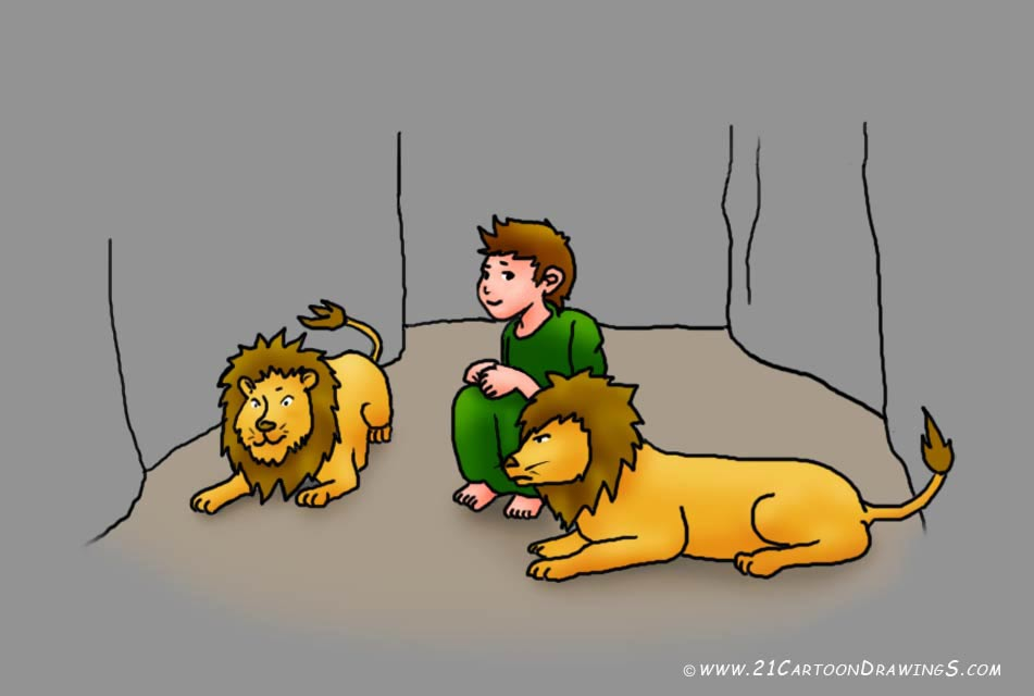 Daniel Was Thrown Into The Lions  Den