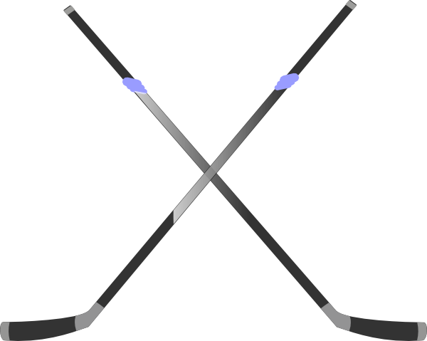 Double Hockey Stick Clip Art At Clker Com   Vector Clip Art Online