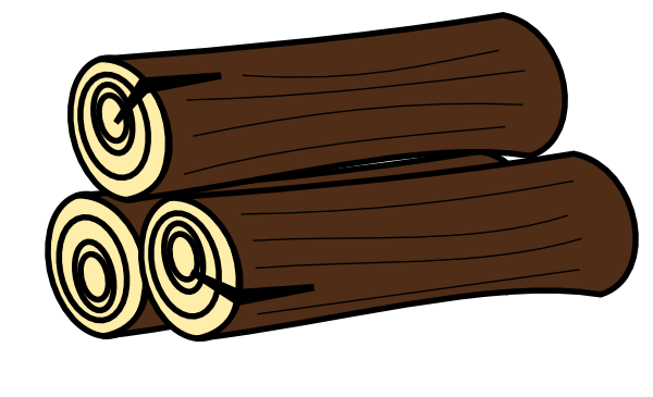 Free Pile Of Timber Clip Art