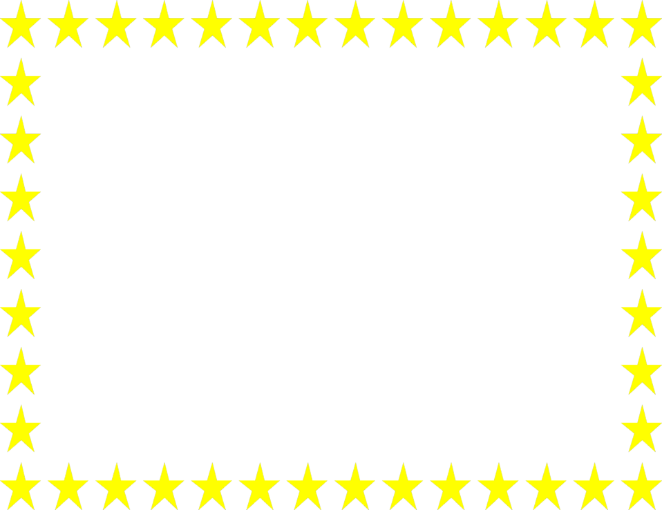 photo illustration of a blank frame border of yellow stars 6358
