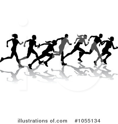Royalty Free  Rf  Running Clipart Illustration By Geo Images   Stock
