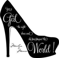 Shoe Silhouette Clip Art   Give A Girl The Right Shoes Marilyn Monroe