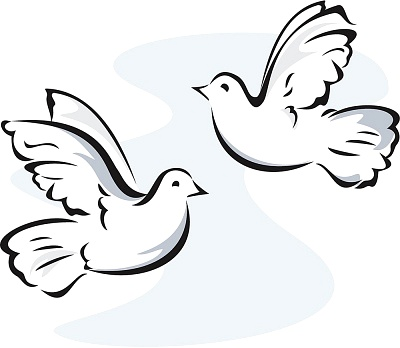 Two Doves Clipart Clipart Suggest