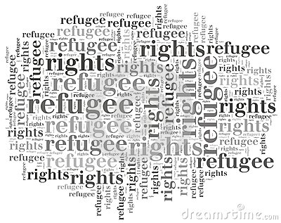 Word Cloud Illustration Related To World Refugee Day