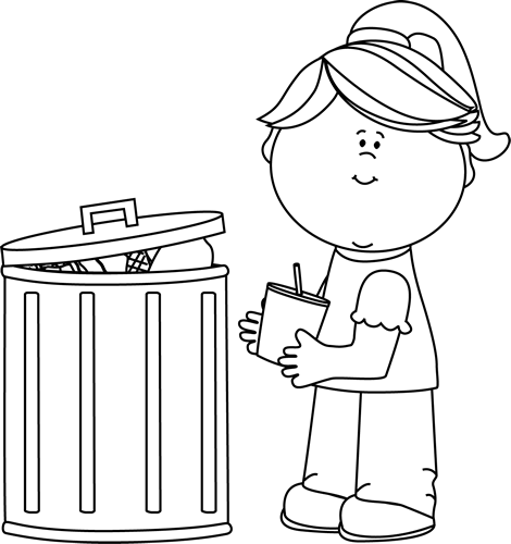 Garbage Black And White Clipart - Clipart Suggest