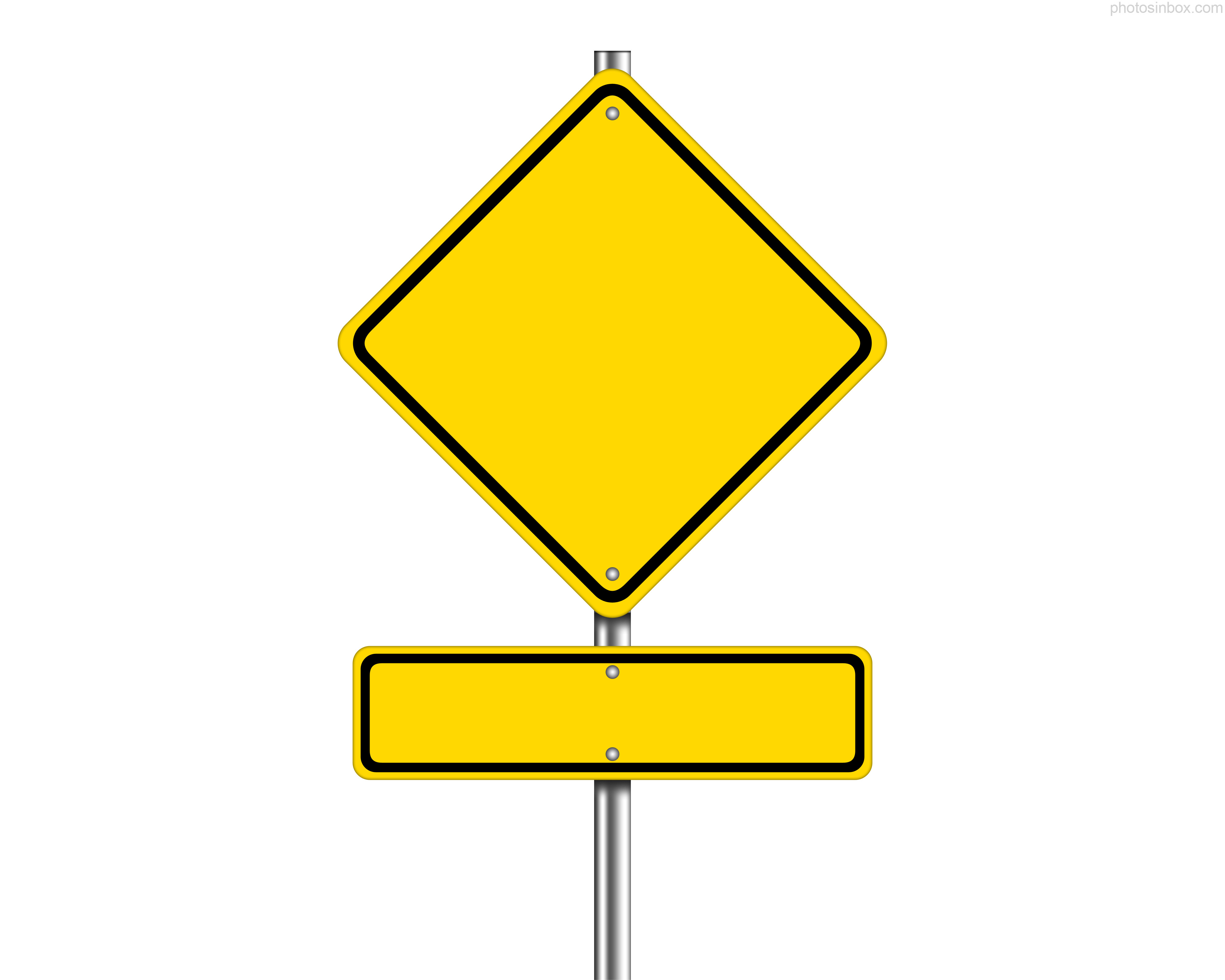Blank Road Sign Clipart - Clipart Kid