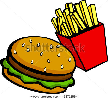 Burger And Fries Clipart - Clipart Kid