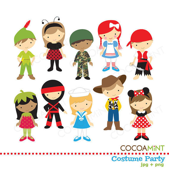Costume Party Clip Art By Cocoamint On Etsy