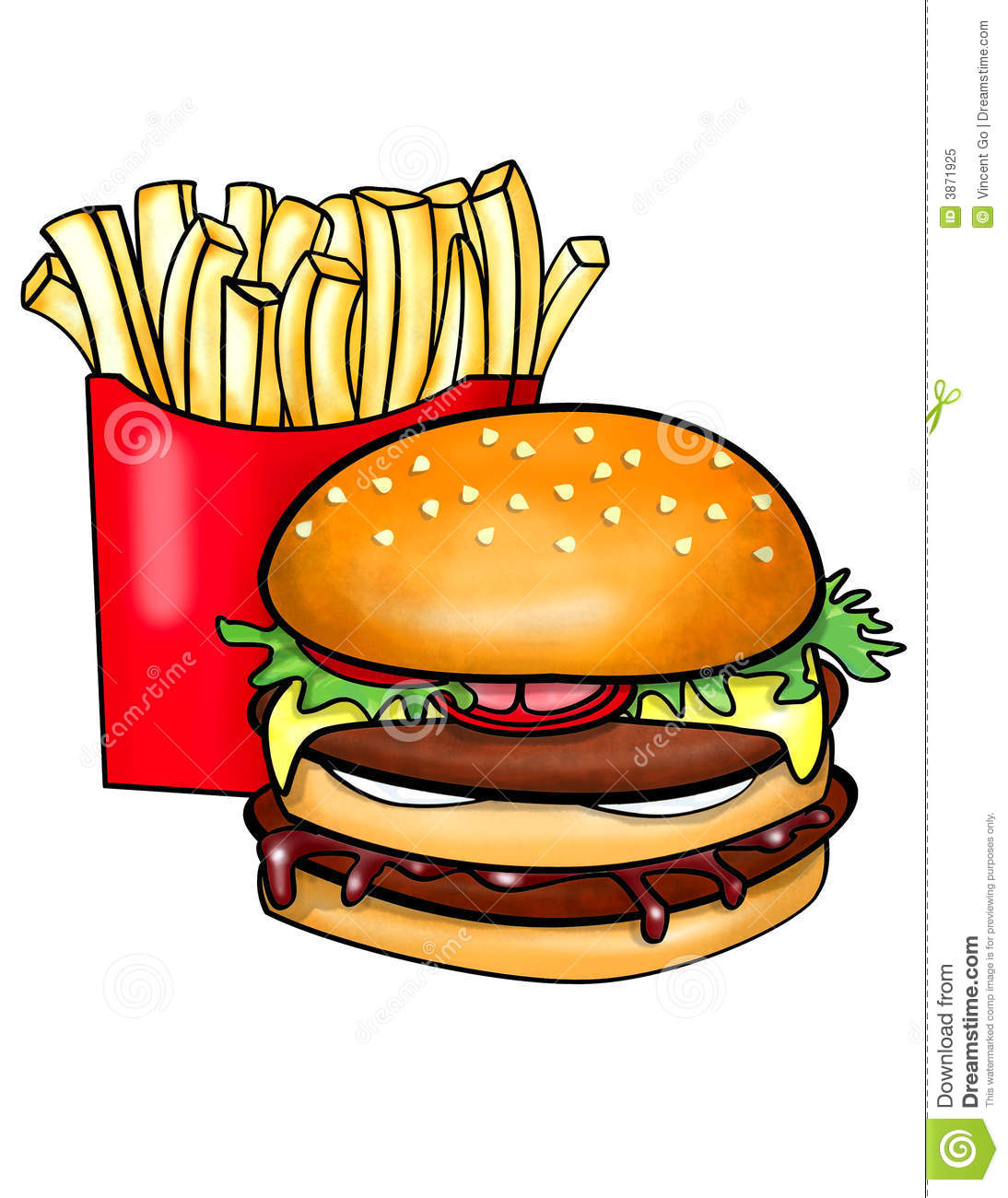 Burger and fries clipart clipart suggest for Hamburger clipart