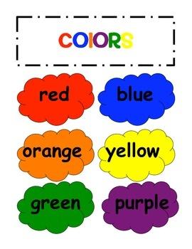 Colors Words Color Clipart - Clipart Kid