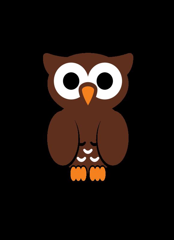 Cute Brown Owl Clipart - Clipart Kid