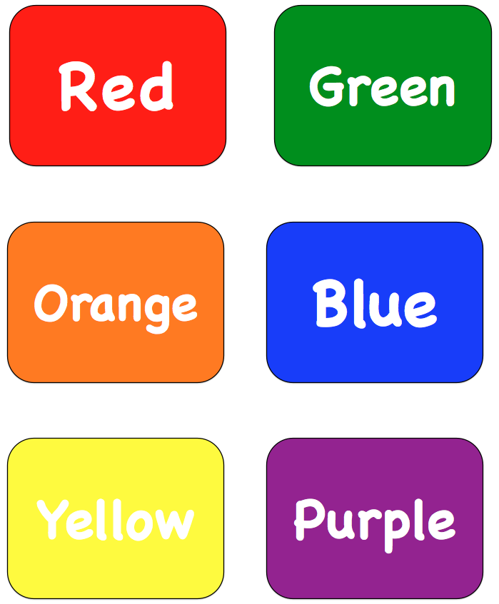 ... Language Arts Lesson Color Words Matching Cards Editable - Clipart Kid