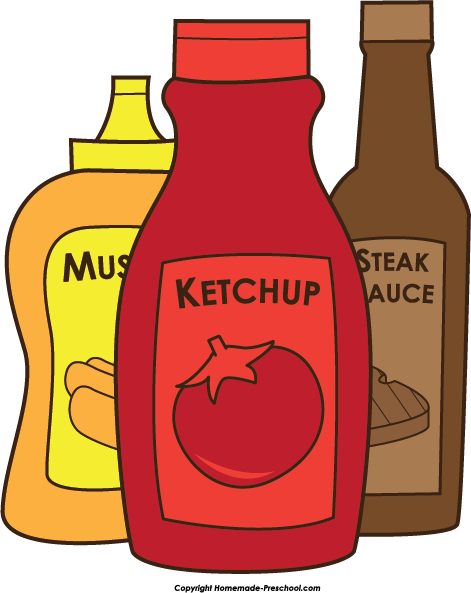 Clip Art Ketchup Clipart mustard and ketchup clipart kid home free bbq steak sauce