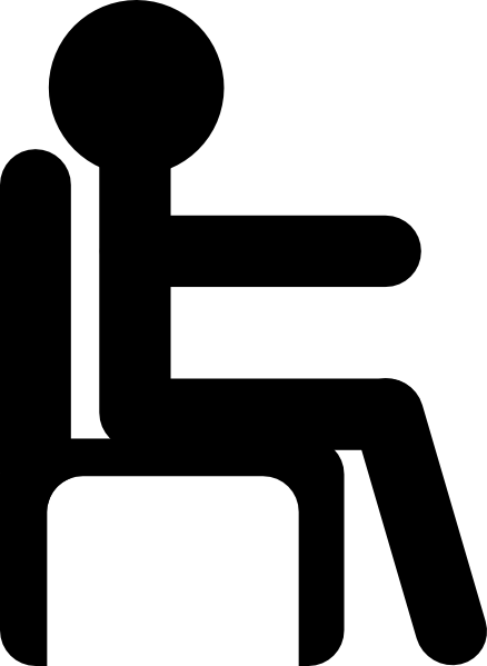 Man In Chair Clip Art