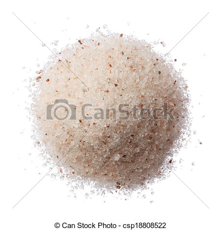 Salt Pile Clipart Stock Photo   Himalayan Pink Salt Pile Isolated On