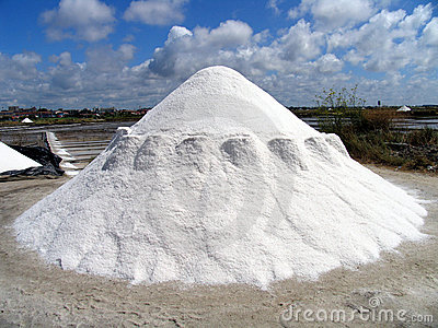 Salt Pile Waiting To Be Transported From A Salt Mine